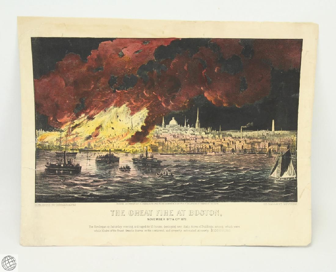 Original c.1872 CURRIER AND IVES HAND COLORED