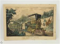 C1870 Antique Original CURRIER AND IVES HAND COLORED