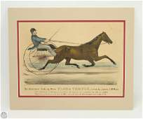 Antique Original c1872 CURRIER AND IVES HAND COLORED