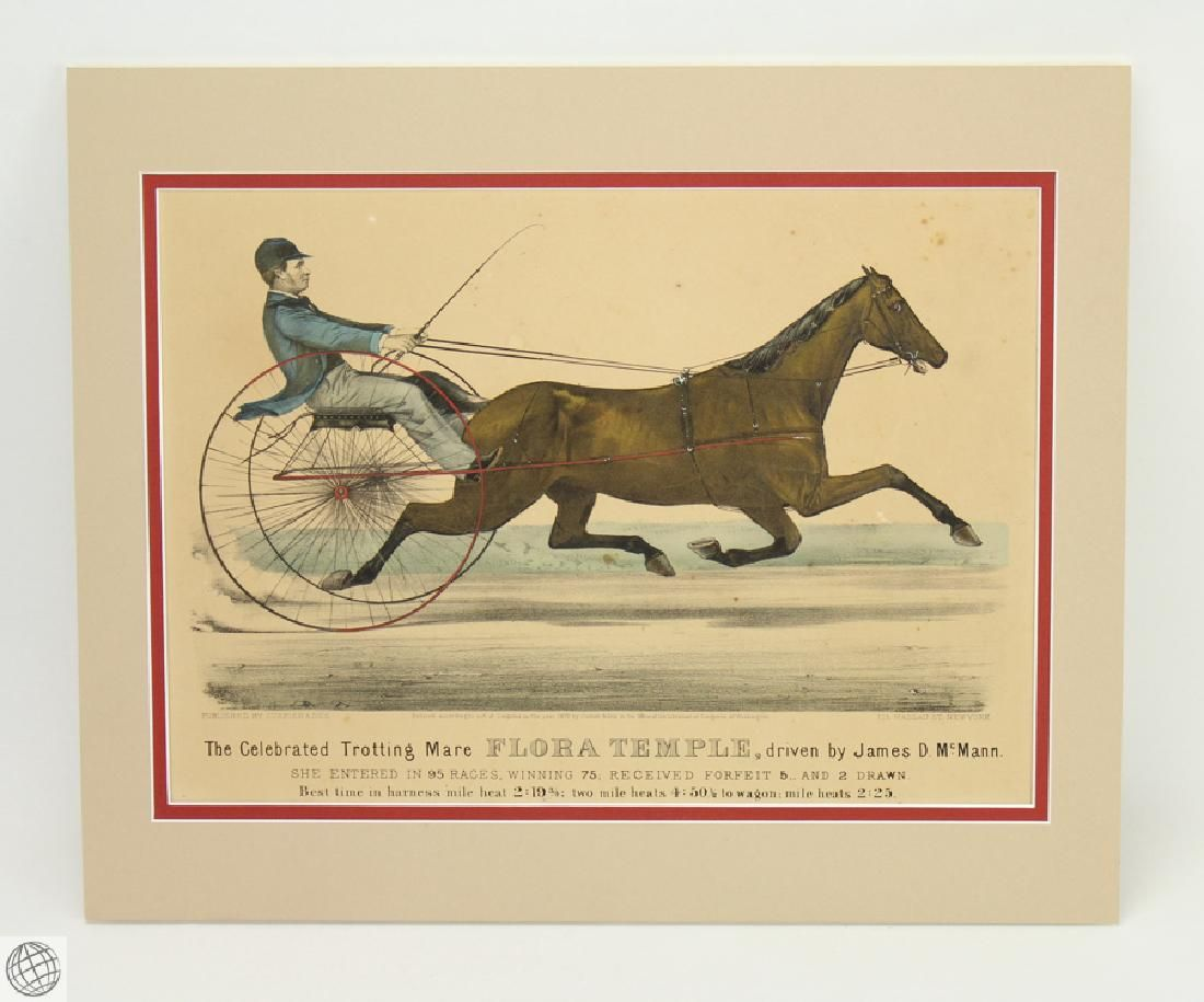 Antique Original c.1872 CURRIER AND IVES HAND COLORED
