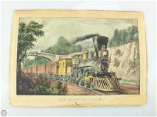 Original c1870 CURRIER AND IVES HAND COLORED