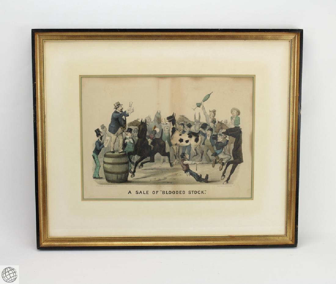 Framed Original CURRIER AND IVES LITHOGRAPH Hand
