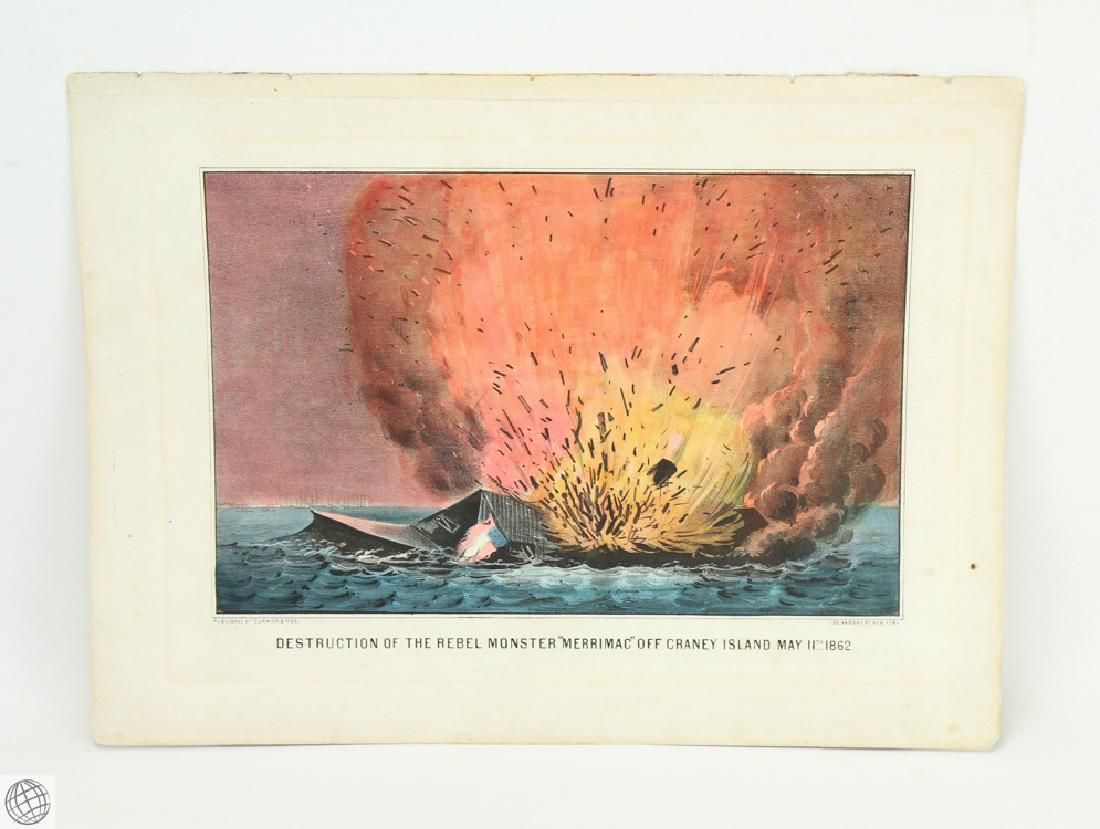 Original c.1862 CURRIER AND IVES HAND COLORED
