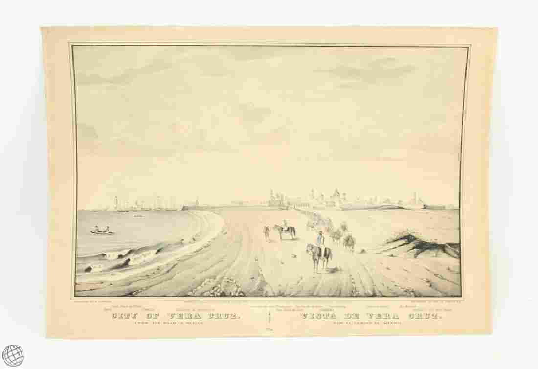 Original c.1847 CURRIER AND IVES HAND COLORED
