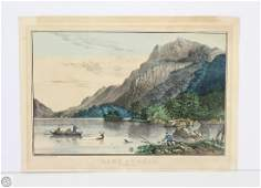Original c1861 CURRIER AND IVES HAND COLORED