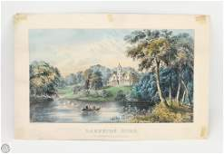 Antique Original CURRIER AND IVES HAND COLORED