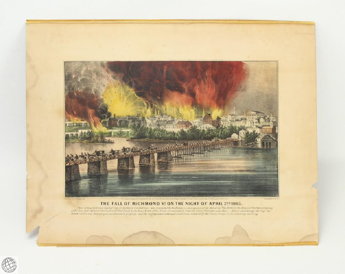 Original c.1865 CURRIER AND IVES HAND COLORED