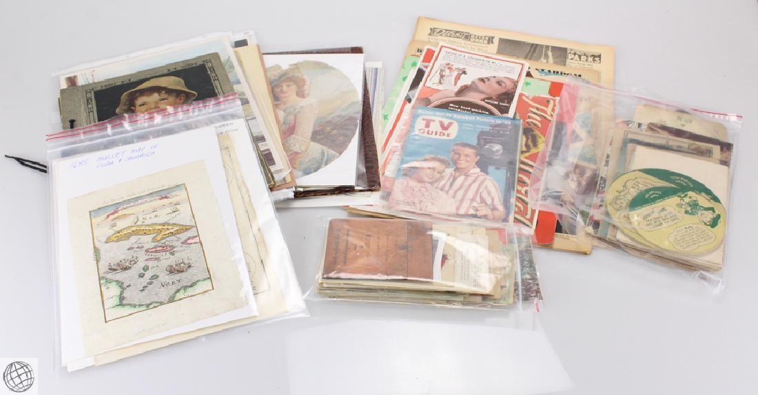 Large Collection 17th-20th CENTURY ESTATE EPHEMERA