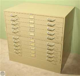 Cole steel prices 9 auction price results vintage cole steel blueprint cabinet ten drawers malvernweather Images