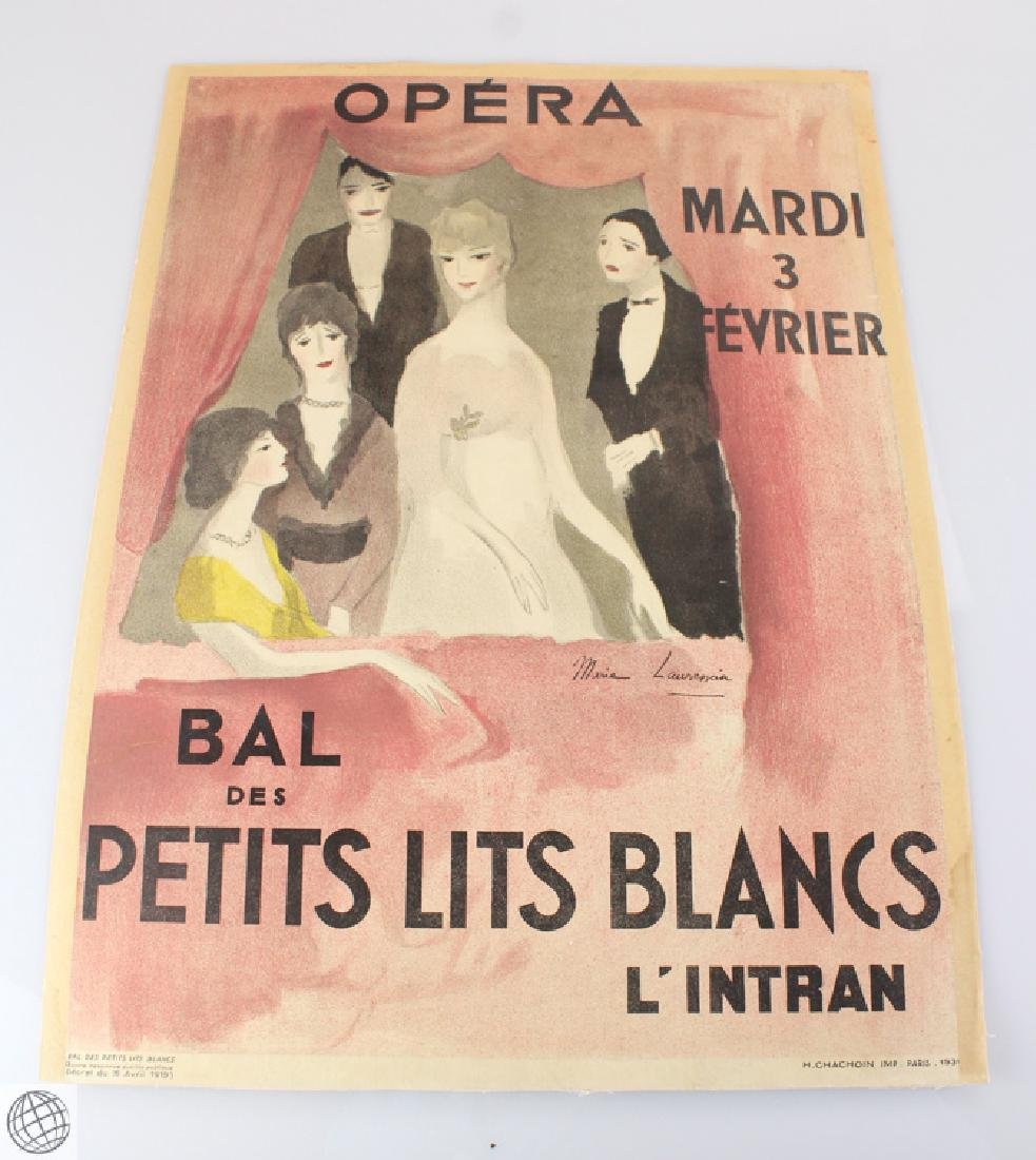 Antique C1931 MARIE LAURENCIN LITHOGRAPH POSTER Weill