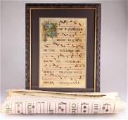 5Pcs 14th-15th Century VELLUM GREGORIAN MUSIC SCORE