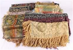 10Pcs Wall Hangings Tapestries VINTAGE/ANTIQUE TEXTILES