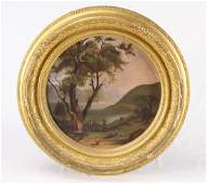 C. 19th C HUDSON RIVER SCHOOL PRIMITIVE PAINTING WITH