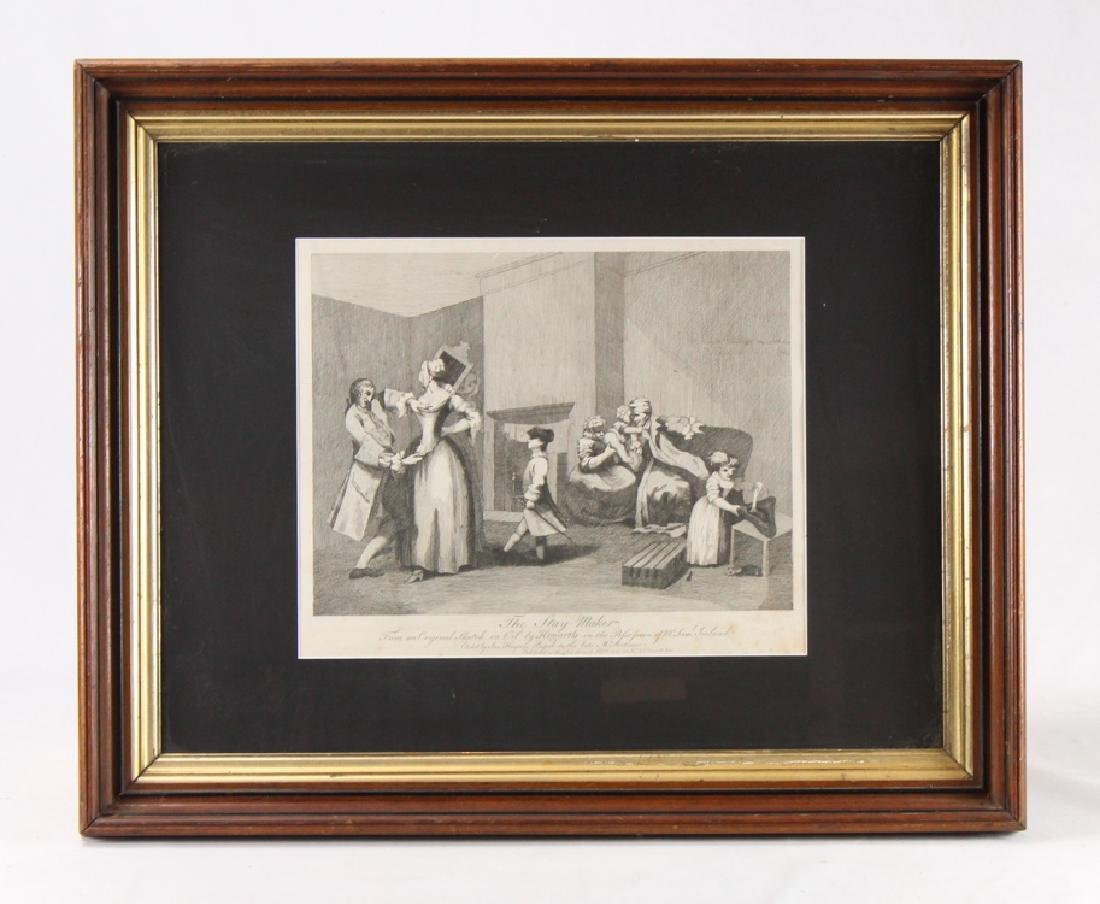 Original Antique Etching WILLIAM HOGARTH The Stay Maker