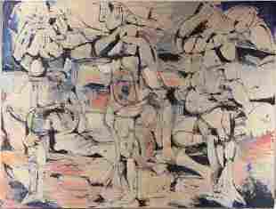 Original Oil Canvas Painting SALVATORE GRIPPI Untitled