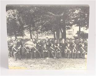 Mounted Photograph COOPERSTOWN NEW YORK MILITARY BAND