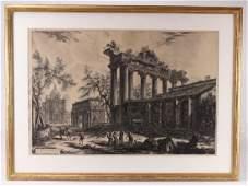 Giovanni Battista Piranesi THE TEMPLE OF SATURN WITH