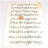 Monastic Handmade Illuminated VELLUM GREGORIAN