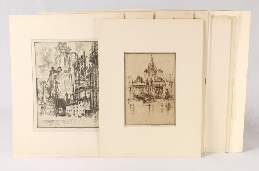 15Pcs Joseph Pennell SIGNED ETCHINGS & LITHOGRAPH
