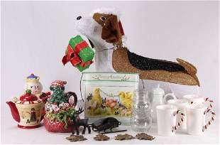 14Pcs Christmas Teapots HOLIDAY CERAMICS DECOR Rare