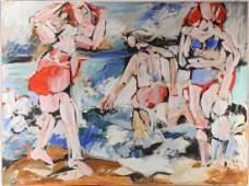Original Oil Canvas Painting SALVATORE GRIPPI Three