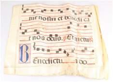 Antiphonal Monastic Chart VELLUM GREGORIAN MUSIC SCORE