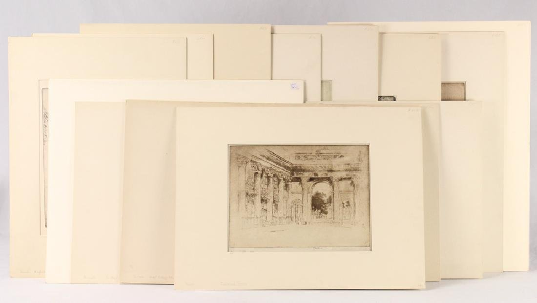 14Pcs Joseph Pennell SIGNED LONDON ETCHINGS 1893-1906