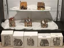 5Pcs Dept 56 Dickens Heritage Village BOARDING &