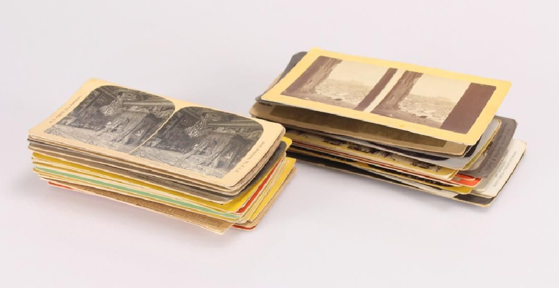 55pcs Antique Travel Photography STEREOGRAPH/STEREOVIEW