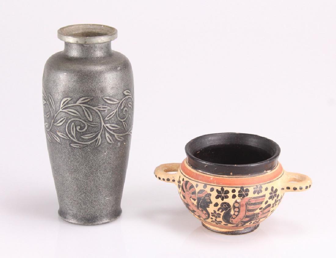 2pcs Greek/Japanese Pottery GREEK-STYLE BOWL/JAPANESE