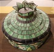 Antique Pre-1940 TIFFANY STYLE LAMP SHADE Hanging