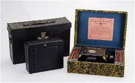 2pcs Early Photography Projection ANTIQUE MAGIC LANTERN