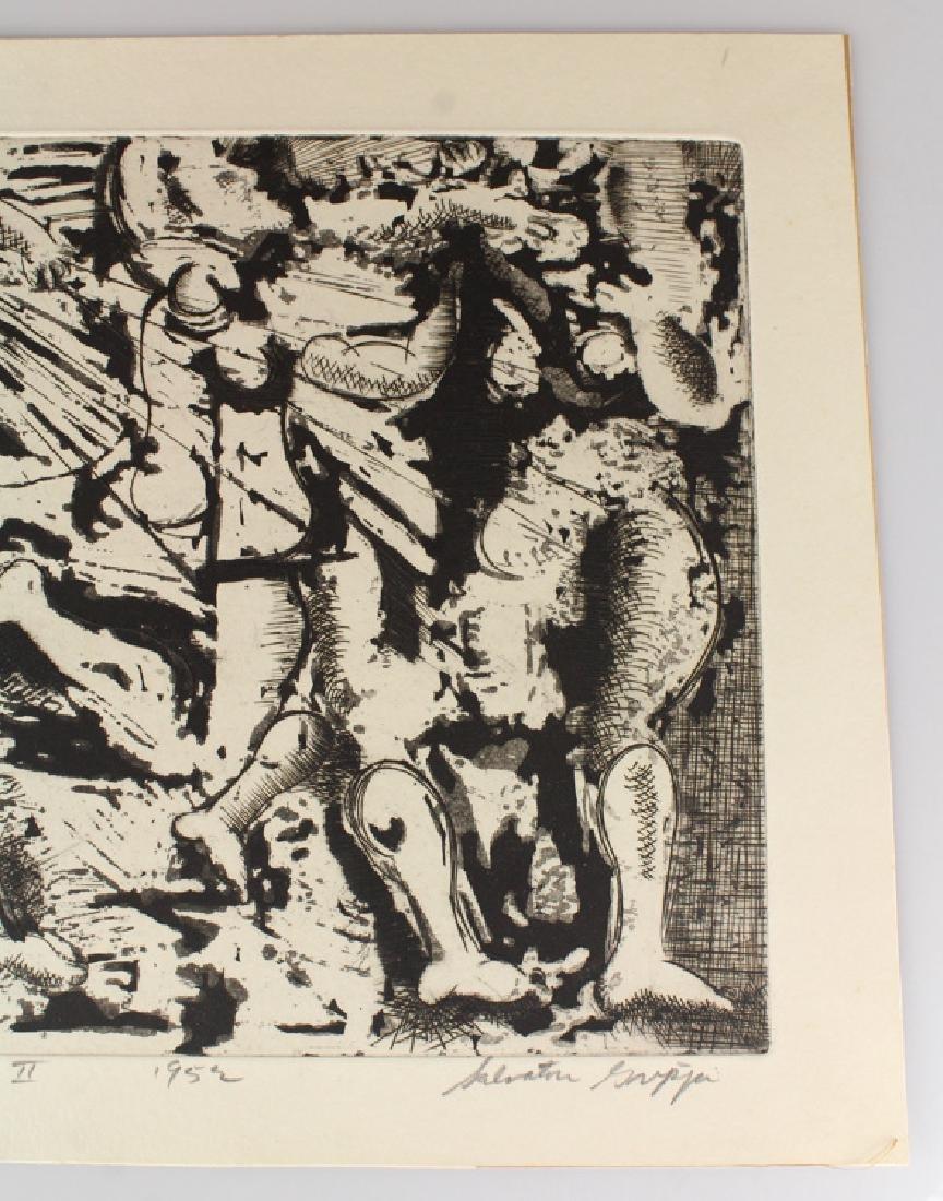 Artist Signed SALVATORE GRIPPI INTAGLIO ETCHING 1952 - 3