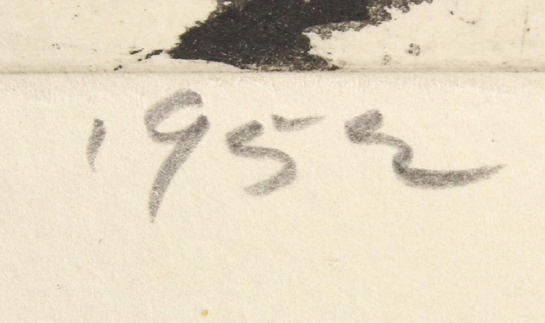 Artist Signed SALVATORE GRIPPI INTAGLIO ETCHING 1952 - 5
