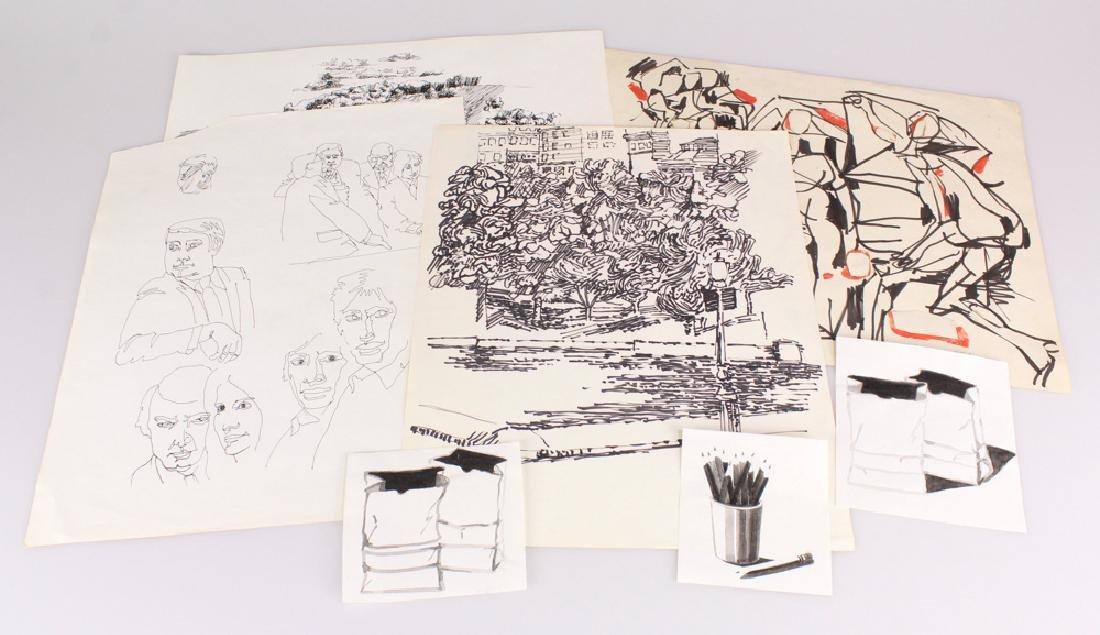 7pcs Landscape Portrait SALVATORE GRIPPI INK STUDIES