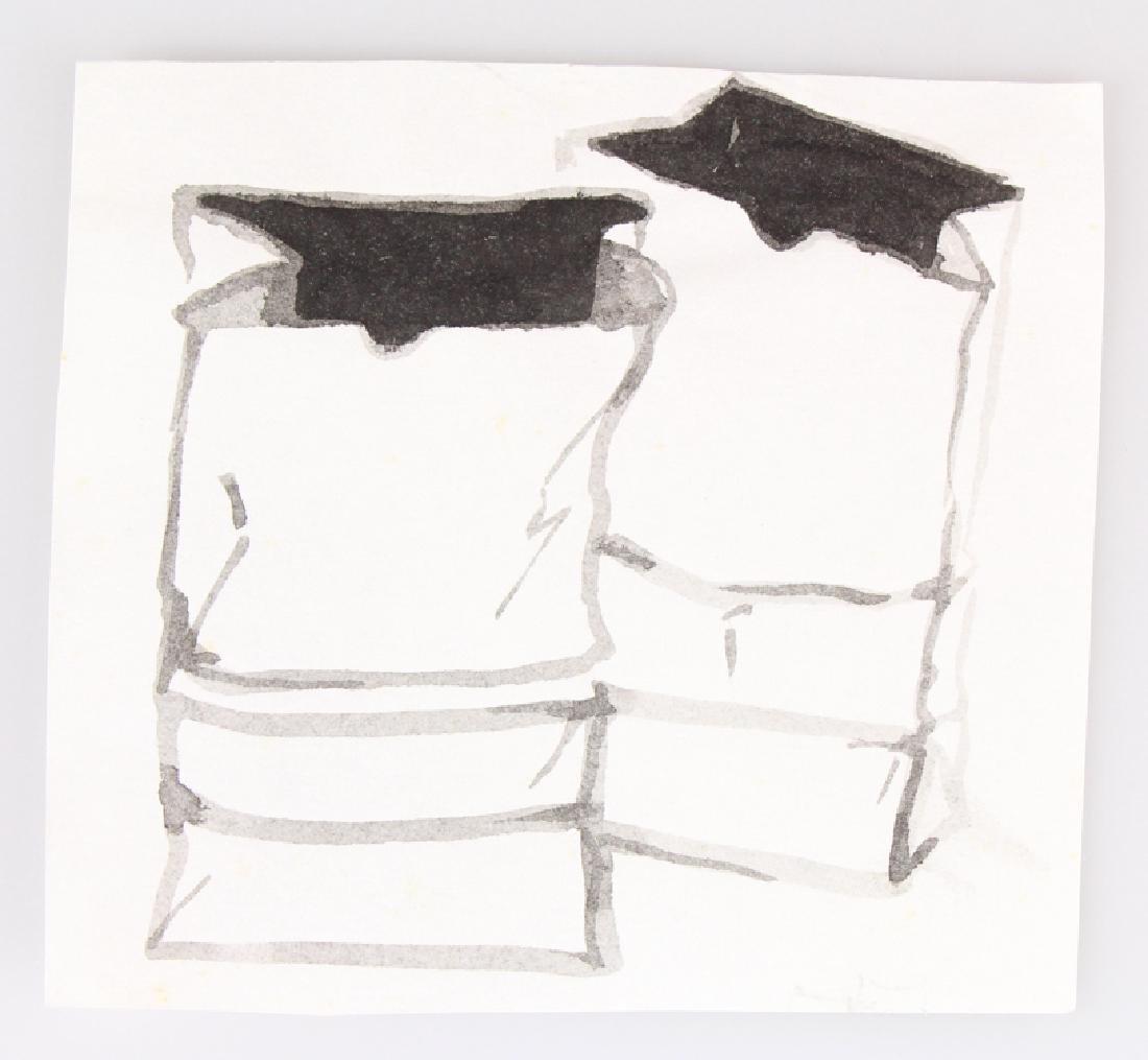 7pcs Landscape Portrait SALVATORE GRIPPI INK STUDIES - 2