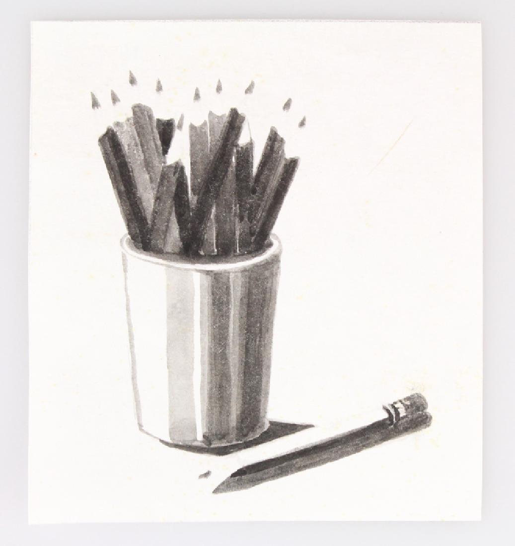 7pcs Landscape Portrait SALVATORE GRIPPI INK STUDIES - 3