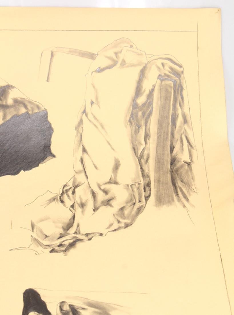 Study In Pencil SALVATORE GRIPPI 1976 Artist Signed - 3