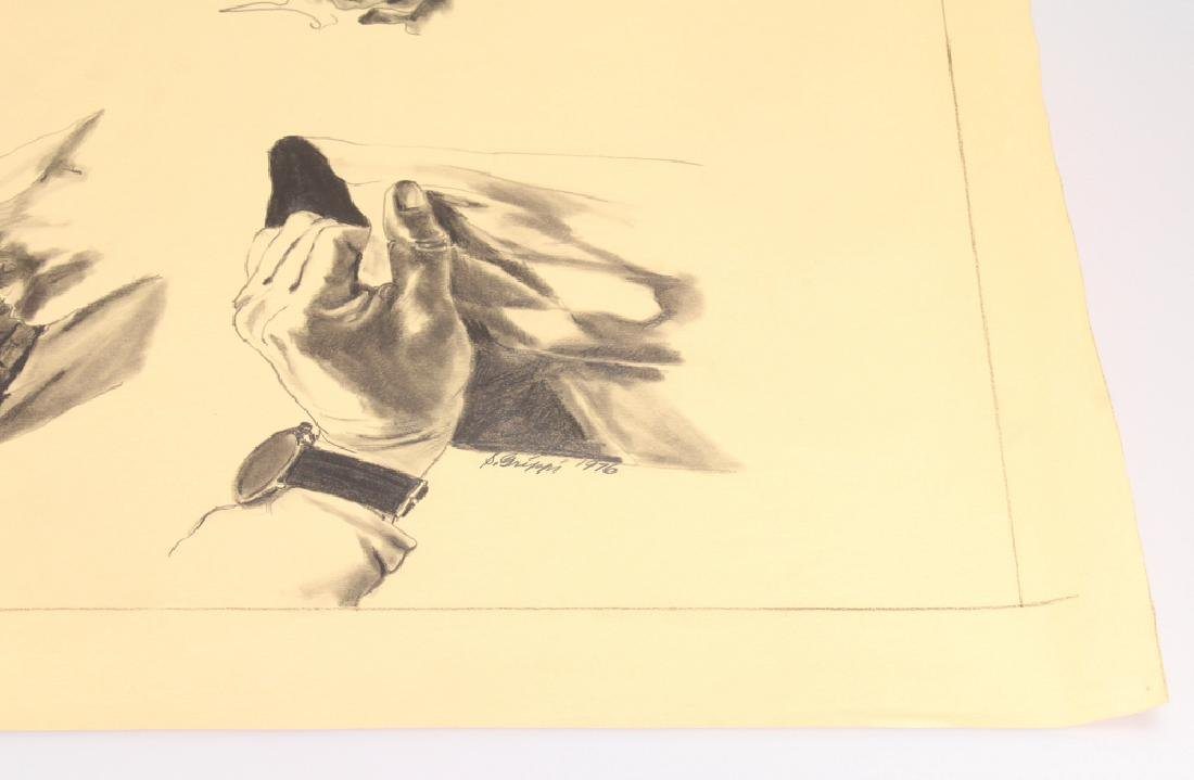Study In Pencil SALVATORE GRIPPI 1976 Artist Signed - 4