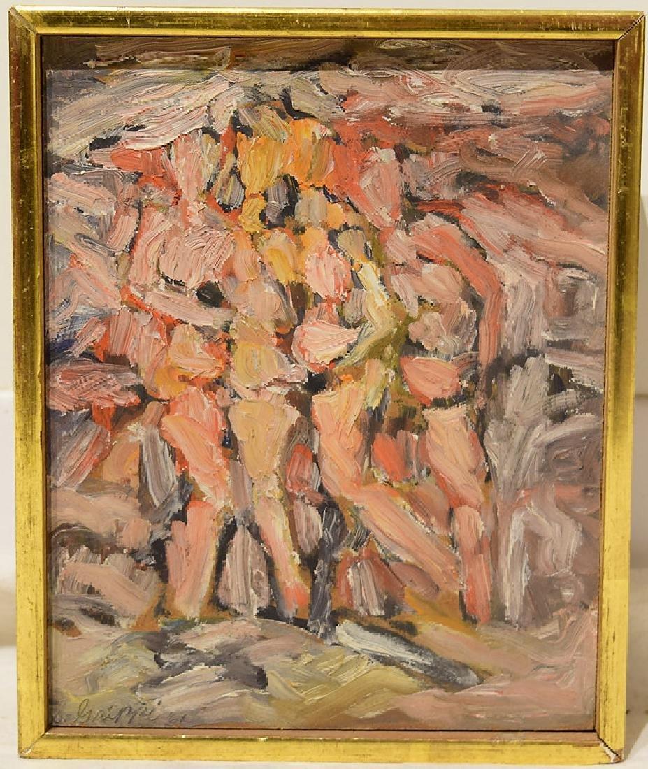 Artist Signed SALVATORE GRIPPI OIL ON BOARD 1961