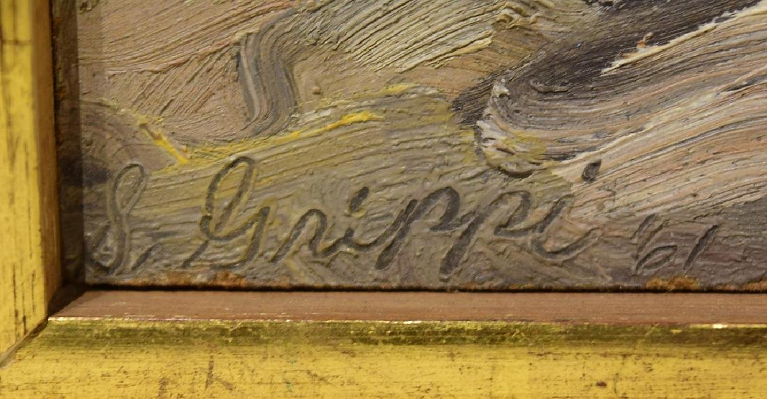 Artist Signed SALVATORE GRIPPI OIL ON BOARD 1961 - 3