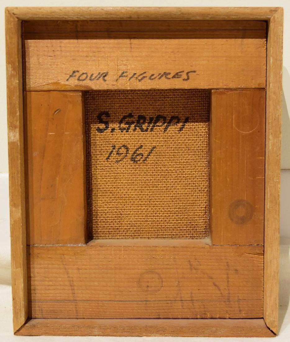 Artist Signed SALVATORE GRIPPI OIL ON BOARD 1961 - 4