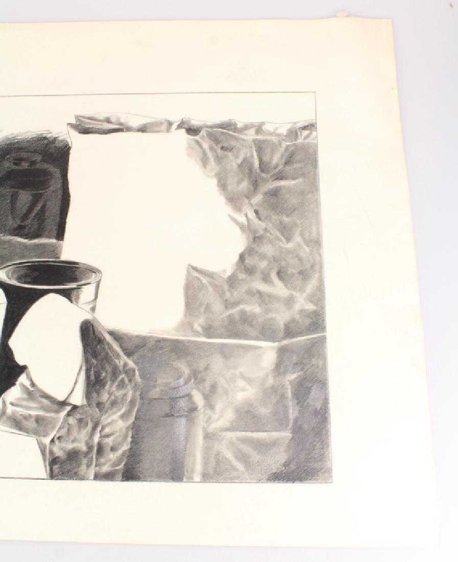 Pencil Still-Life SALVATORE GRIPPI DRAWING 1979 Artist - 3