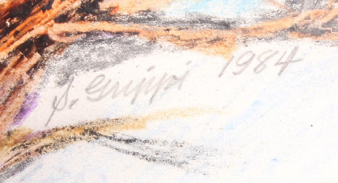 Artist Signed SALVATORE GRIPPI PASTEL LANDSCAPE - 4