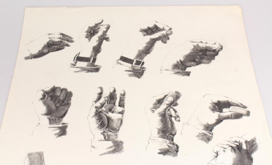 Artist Signed SALVATORE GRIPPI STUDY OF HANDS IN PENCIL - 2