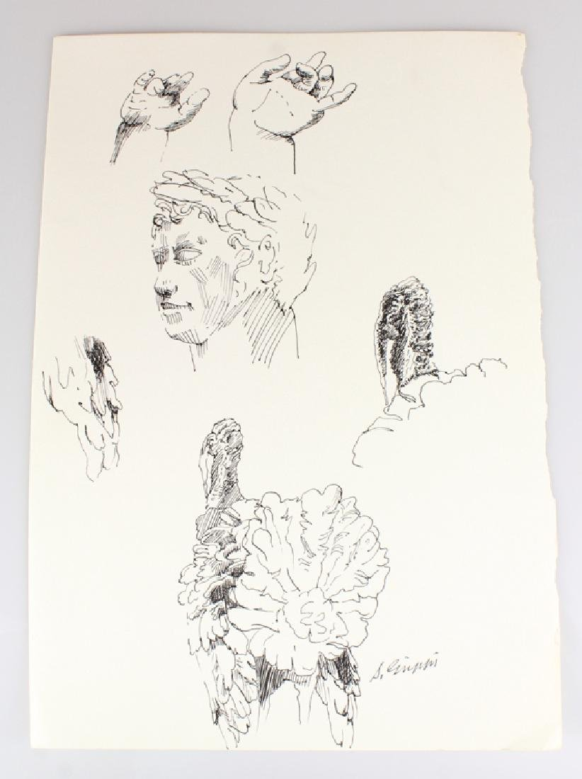 6pcs Artist Signed SALVATORE GRIPPI INK STUDIES - 2