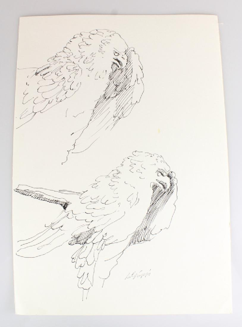 6pcs Artist Signed SALVATORE GRIPPI INK STUDIES - 4