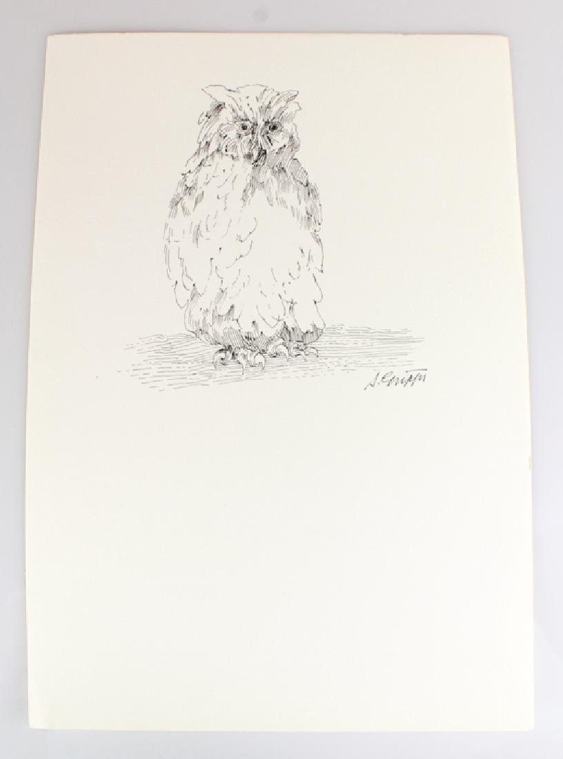 6pcs Artist Signed SALVATORE GRIPPI INK STUDIES - 5