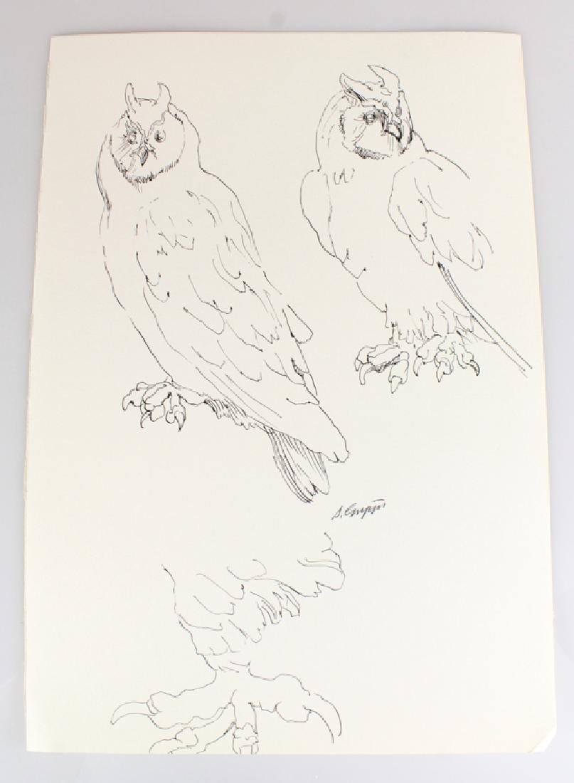 6pcs Artist Signed SALVATORE GRIPPI INK STUDIES - 6