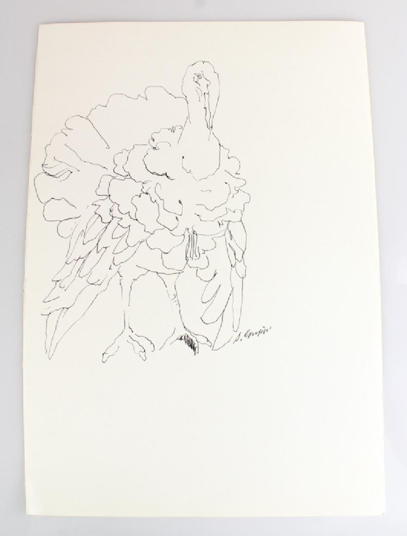 6pcs Artist Signed SALVATORE GRIPPI INK STUDIES - 7